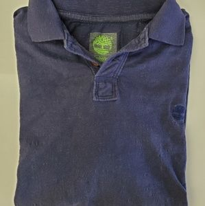 Timberland Navy Blue Pique Polo S/S Shirt US Small